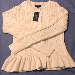 NWT Girls Polo Ralph Lauren Cardigan, Large